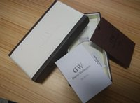 Wholesale 2016 Luxury Brand Daniel Wellington Watch Box Dw Original Watch Box With Instructions And Manual Case cm Without Watch FREE DHL