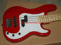 Wholesale Hot sales high quality string bass guitar basswood material body red color P bass guitar electric