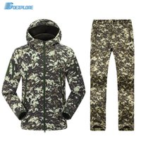 Wholesale Military uniform multicam army softshell uniform tactical pants and jacket camouflage hunting clothes ghillie suit for mens