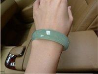 authentic jade bracelet - authentic female models natural emerald jade bracelet light green jade bracelets jade jade A grade n067