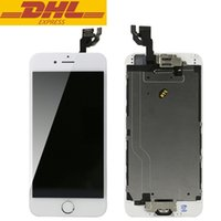al por mayor pantalla pequeña pulgadas-Para 4.7 pulgadas Iphone 6 LCD pantalla táctil pantalla digitalizador Asamblea con cámara delantera + metal bisel completa pequeñas piezas de DHL gratis