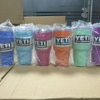 Wholesale 2016 Hot Pink Powder Coated Yeti Rambler Tumbler oz Cup Cooler Keep Hot and Cold YETI Mug oz Colors