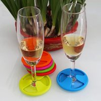 Wholesale 2016 Factory Price Home Essential Silicone Wine Coasters Non Spill Lid Mug Cup Drink Mat Color Available