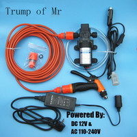 Wholesale High Pressure Self priming Electric Car Washing Washer Machine V Car Washer Pump Cleaner to V Adapter Package
