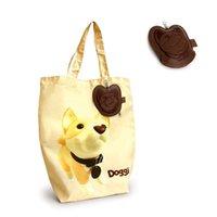 sac de chiot d'impression pratique des ménages réutilisables porte-sac en nylon exposition ou cadeau de promotion sac shopping avec PU pochette pyrogravure