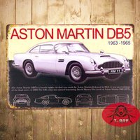 antique bonds - quot DB5 Sports Car quot James Bond Metal Tin signs Garage With Striking Home Decor Man Cave