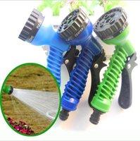 Wholesale pieces box Sets Function Flexible Expandable hose spray gun three color Fedex ix