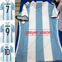 argentina soccer player messi - 2017 Argentina Soccer Jersey Home Argentina Football Shirt Messi Aguero Blue White Player Vision Jerseys