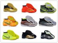 Wholesale 2016 hot new Elastico Superfly IC Indoor football Shoes High Ankle Superfly TF Turf Football Boots Futsal football