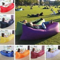 Wholesale 13 Color Fast Inflatable Sofa Air Sleep Bed cm Outdoor Air Sleep Sofa Couch Portable Sleeping Hangout Lounger Inflate Air Bed PPA203
