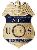 atf badges - US DEPARTMENT OF JUSTICE ATF SPECIAL AGENT METAL BADGE LAPEL PIN