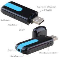 El nuevo movimiento de la cámara DVR del espía del disco del USB del nuevo de la venta del espía de la cámara mini DVR U8 HD mini detecta la cámara ocultada leva de la leva de la cámara Envío libre