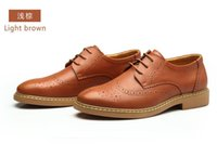 american retro shoes - European and American big Summer New Breathable Shoes Men Casual Leather Light Brown Men s Shoes Retro Single Support