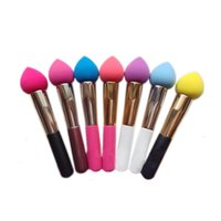 latex powder - NON LATEX COTTON Makeup Sponge Blender Blending Cotton Powder Puff Dry and Wet Brush Puff colorfull