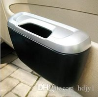 Wholesale free shinppingShun Wei creative fashion car trash bins green boxes can be hung inside the side door bins