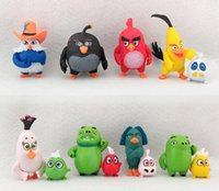 anime toys - New angry bird kids toys set cartoon toy new pvc action figure anime figures game gifts toys cm