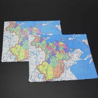 Wholesale Brand New Lovely Cartoon characters and Maps pattern Lens Clothes Bamboo Fiber three pattern drop shipping