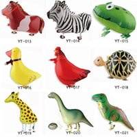 inflatable - 500 Cheap Walking Animal Balloon Inflatable Foil Cartoon Walking Pet Balloon Party Decoration Toys DHL