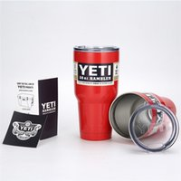 army wall - 2016 Hot Sell Colored YETI Rambler Tumbler oz Travel Vehicle Beer Mug Double Wall Bilayer Vacuum Insulated Stainless