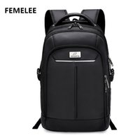 Wholesale Hot selling Large Capacity Nylon Compact male laptop backpack classic men s school bag and business travel bag Casual Rucksack