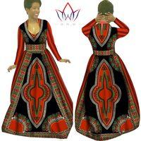 attire clothes - Custom Made African Clothes Bazin Rich Dashiki Africrint Long Dress Traditional attire Batik Plus Size Women Dress Maxi Dress WY029