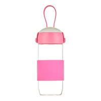 beautiful water bottles - 300ml new stylle Creative Drinking Borosilicate Glass Water Bottle with silicone handle and beautiful color