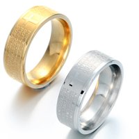 bible colors - New arrival colors Spanish Religious carved stainless steel cross bible ring for lovers wedding