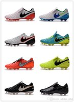 Wholesale 2016 New Discount Tiempos Legend VI FG ID Men s Outdoor Soccer Shoes Hot Cheap Soccer Cleat Genuine Leather High Quality Football Shoes