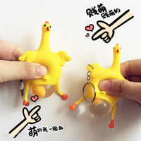Wholesale Funny toy chicken industries funny toys new chicken lays eggs key chain for gift reduced pressure turn funny toys A0007
