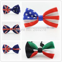 australian yarn - fashion men bow tie Union Jack British Flag bowtie Australian American Flag bow ties Necktie
