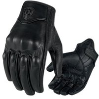 Wholesale Motorcycle Riding Racing Bike Protective Armor Short Leather Gloves M L XL wm064F2