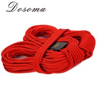 Wholesale 10M KN Professional Static Rope meter Dupont Wire Climbing Rope Outdoor Camping Cord Rappelling Safety Rope Survival Tools