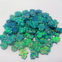 Wholesale 50pPCS Synthetic opal hand bead opal hamsa stone color for your choose
