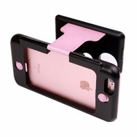 Wholesale 2016 New Cheap D VR Glasses Case for iPhone Plus Hybrid ABS and PC Virtual Reality Lens Cover for iPhone s Plus DHL