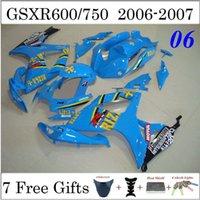 Precio de Suzuki gsxr750 fairing-7gifts azul carenado + Capota del GSXR600 GSXR750 K6 SUZUKI GSXR600 GSXR750 06 07 Carenados Suzuki Fit Motociclismo Carrocería