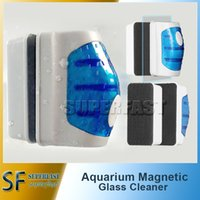 Wholesale Magnetic Aquarium Fish Tank Glass Algae Scraper Cleaner Floating Clean Brush Clean Scrubber Cleaning Tools for m Fishbowl