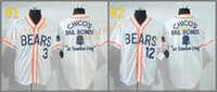 bears white jersey - Bad News Bears Kelly Leak white MLB Baseball Jersey Cheap Rugby Jerseys Authentic Stitched Size