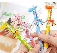 balls giraffe - Cute Cartoon Ball Pens Plastic Kawaii korean Stationery fancy giraffe pen school supplies Gifts HJIA731