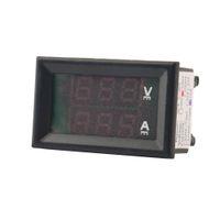 Wholesale New DC V A Voltmeter Ammeter Blue Red LED Amp Dual Digital Volt Meter Gauge