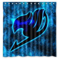 best curtain fabric - Blue Fairy Tail Best Design Shower Curtain Size x cm Custom Waterproof Polyester Fabric Bath Shower Curtains