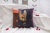 Wholesale 2016 NEW Fox nick doll judi Rabbit cartoon Poke pillow COVER WITH INSIDE Zootopia character BEDROOM DECORATION home textiles