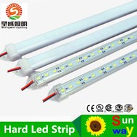 Wholesale Hard LED Strip SMD Cool Warm White Rigid Bar LEDs LED Light Shell Housing With Cover By DHL LED rigid strip