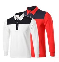 Wholesale 2016 autumn and winter New arrival men golf polo shirts long sleeved Golf T shirt quick drying suction sweat breathable shirts