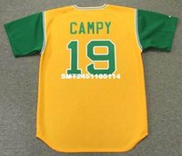 Wholesale BERT CAMPANERIS Oakland Athletics Majestic Cooperstown Baseball Jersey
