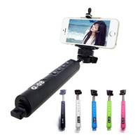 Wholesale Monopod Selfie Stick Expandable Selfie Stick StainlessSteel Bluetooth Holder Handhold Monopod For IOS Android Phones orCamera Selfie monopod