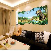 Wholesale 90 cm newest impression D cartoon movie Dinosaur home decal wall sticker boys love kids room decor child gifts