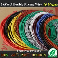 Wholesale M FT AWG Flexible Silicone Wire RC Cable AWG TS Outer Diameter mm with Colors Electrical Wire Cables