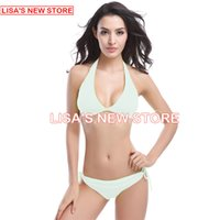 Wholesale 2016 sexiest Women Bikini bathing suit Summer Swimwear Sexy bikini swimsuit bikini pure color quick drying bikinis swimsuit A Women Swimwear