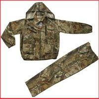 Wholesale set Woodland Bionic Camouflage Clothing Suit Hunting Ghillie Suit Jacket Pants Set
