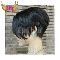 Wholesale New short human hair style celebrity wig A Grade Glueless Full Lace Chic Cut Short Human Hair Wigs Unprocessed Brazilian Human Hair Wigs